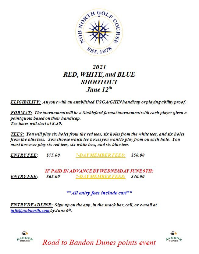 2021 Red White and Blue Shootout